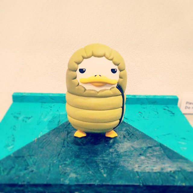 오늘 너무춥다꽥!! #겨울#바람쌩쌩#추워#침낭#오리#꽥꽥#서울디자인페스티벌#winter#cold#duck#SeoulDesignFestival