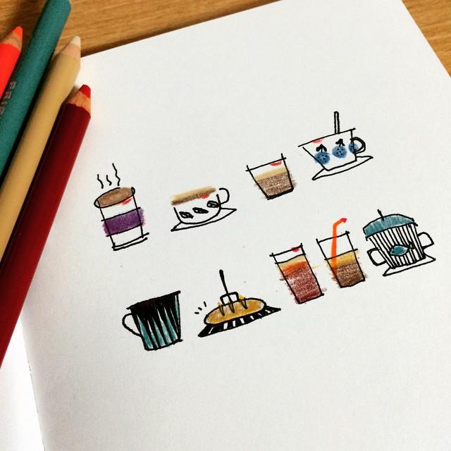 #illust #illustration #일러스트#손그림#낙서#sketch #doodle #drawing#내가마신#커피잔#립스틱#illustagram#JTdesignlife