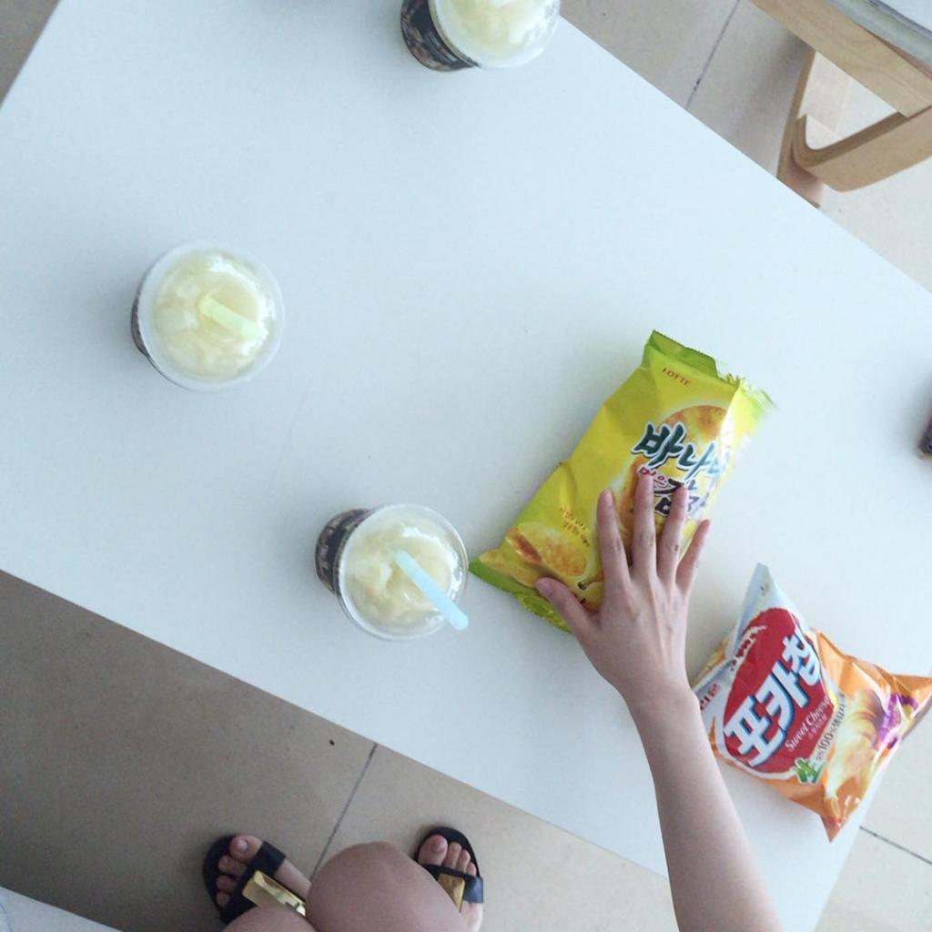 #점심시간#신상과자#맛보기#냠냠🍭