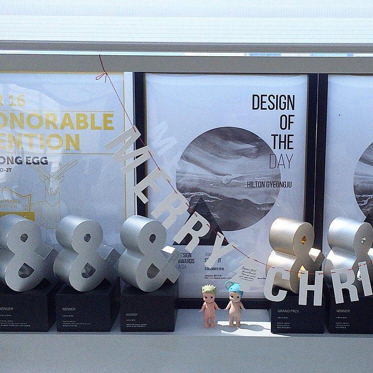 회사 어워드 코너는 365일 메리크리⭐️ . . . #주말#studiolife#award#webdesign#studiojt