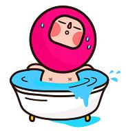 목욕 이모티콘