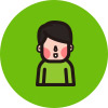 초록색 배경 사람 아이콘