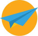 종이비행기 아이콘