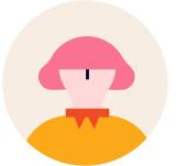 분홍 머리 사람 아이콘