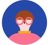 안경 착용한 사람 아이콘