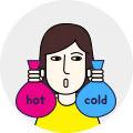 뜨거운 차가운 찜질 아이콘