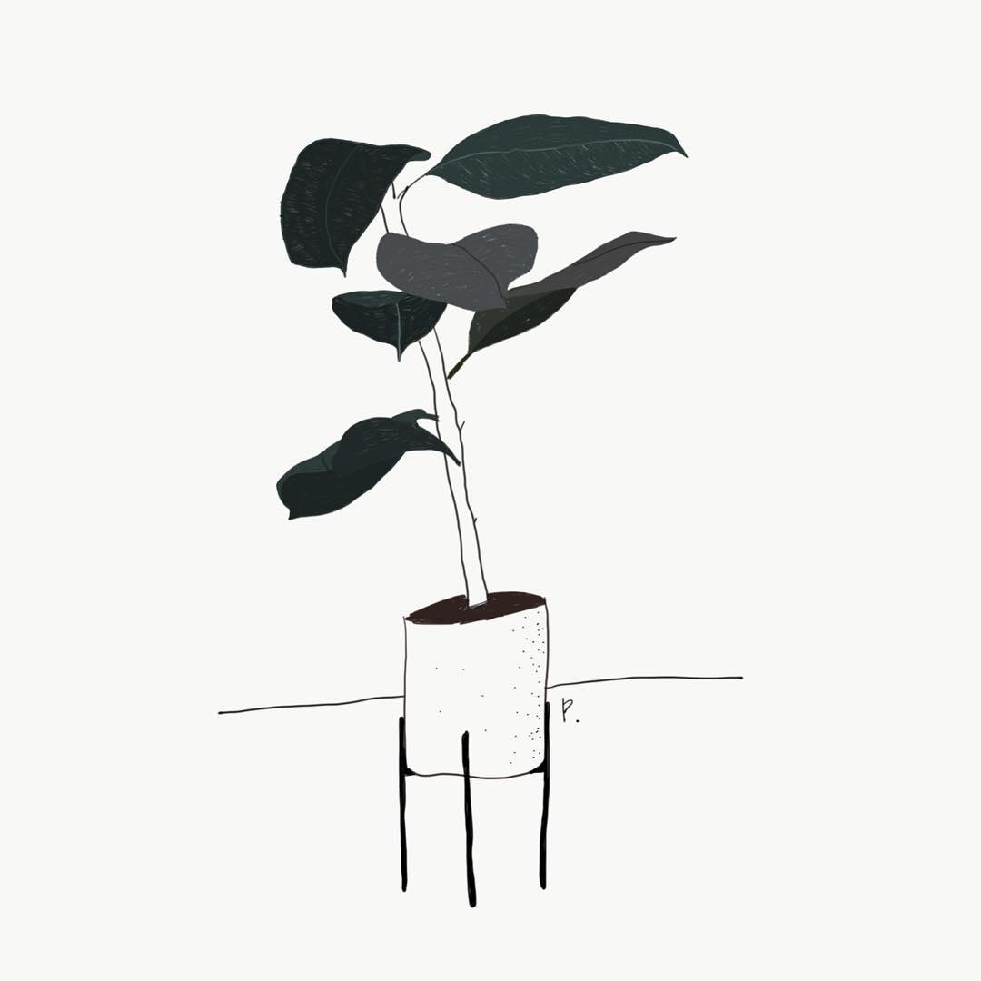 폭풍이 지나갔더랬지🍃 . . #sketch #drawing #illustration #JTdesignlife
