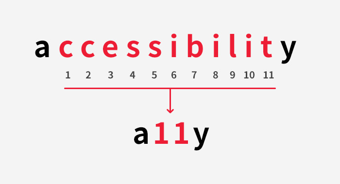 a11y - accessibillity의 축약어
