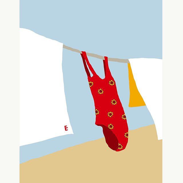 Let's leave – – – – – – – #illustration#illust#design#drowings #drowingart#artwork#artist#webdesigner#webdesignerlife#nature#travel #trip#일러스트#아티스트#드로잉#부산#웹디자이너#소통#힐링#여행#바다#수영복#레드