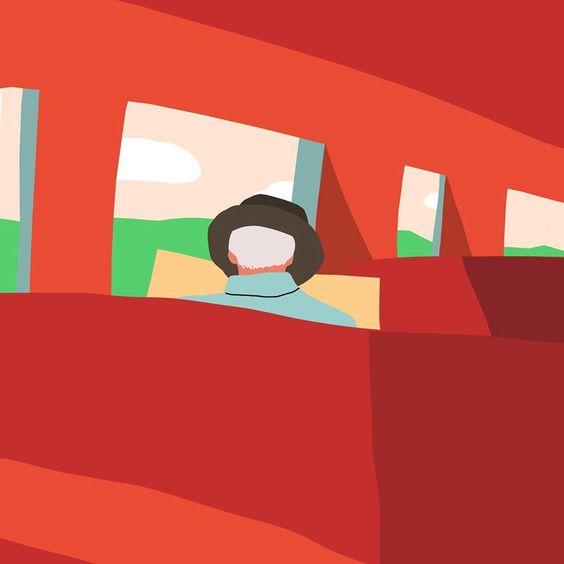 """정다운 on Instagram: """"스위스에서 기차를 타면 이런 기분일까 – – – – – – – – #illustration #illust #design#drowings #drowingart #artwork#artist #webdesigner#webdesignerlife…"""""""