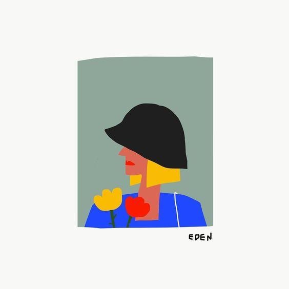 """정다운 on Instagram: """"모자쓴 여인. 다시 그려봤는데도 맘에 들지않네요. 🤧 – – – – – – – – #illustration #illust #design#drowings #drowingart #artwork#artist…"""""""