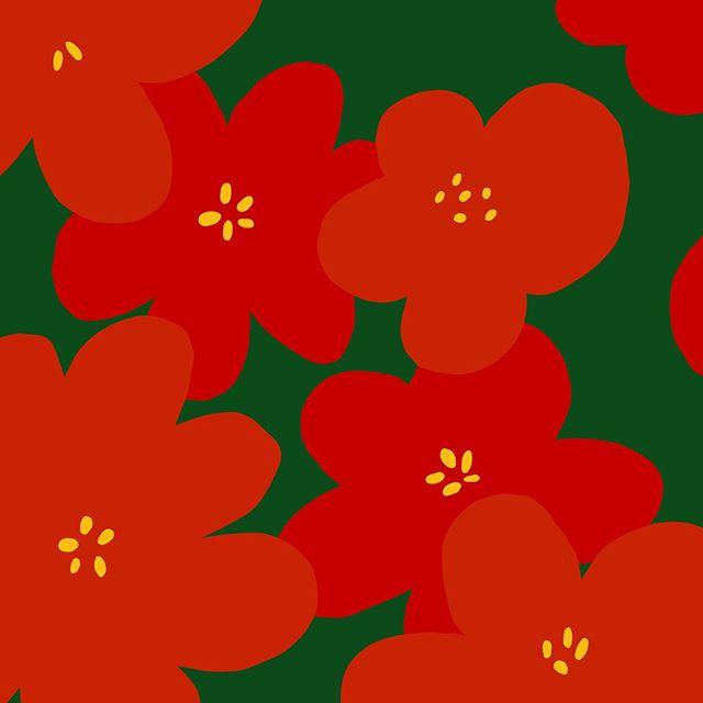 #패턴#꽃 🌺 – – – – – – #illustration#illust#design#drowings#drow#drowingart#artwork#artist#nature#red#pattern#flower#일러스트#아티스트#드로잉#부산#디자이너#소통#힐링#그림스타그램#jtdesignlife