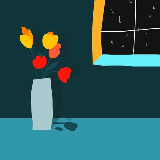 비가 오네요. 하필 오늘..! 어쩐지 허리가😳 – – – – – – – – #illustration #illust #design#drowings #drowingart #artwork#artist #webdesigner#webdesignerlife #doodle#doodlesketch#illustrationsketch#book#designinspiration #artist#드로잉#부산#센텀#디자인#일러스트#그림#소통#비#화분#꽃그림#best_of_illustrations