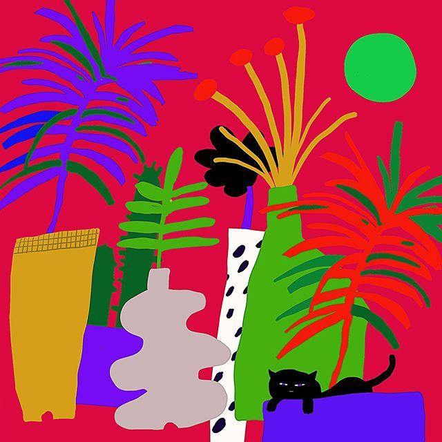 꽃 잔치🌺 – – – – – #illustration#illustagram#drow#drowingart#artwork#artist#illustrator#color#exhibition#best_of_illustrations#그림스타그램#일러스트그램#드로잉