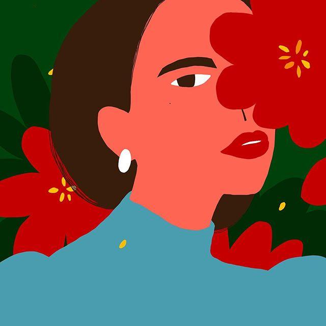 #꽃 #여자 아이컨텍이 좋음 – – – – – #illustration#illust#design#drowings#drow#drowingart#artwork#artist#designer#nature#color#flower#일러스트#아티스트#드로잉#부산#디자이너#소통#힐링#그림스타그램#jtdesignlife#힘내자