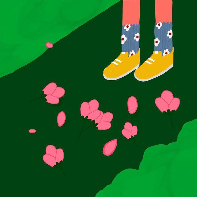 이든이와  #벚꽃구경 가야 하는데😥 – – – – – – #illustration#illust#design#drowings#drow#drowingart#artwork#artist#designer#nature#일러스트#아티스트#드로잉#디자이너#소통#힐링#그림스타그램#mydesign