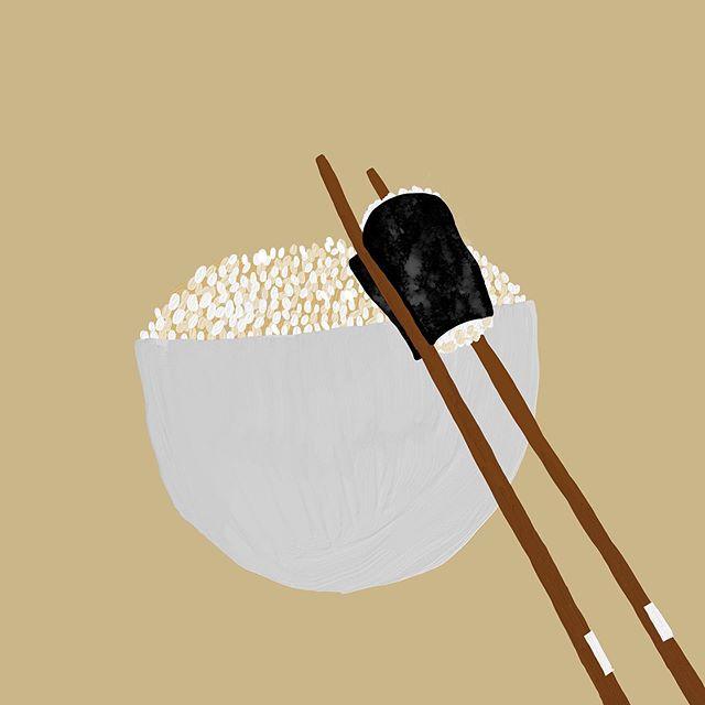 #고봉밥#mydesign 가족의 건강을 위해 현미밥🙂 Japanese style illust?? – – – – – – #illustration#illust#design#drowings#drow#drowingart#artwork#artist#designer#nature#일러스트#아티스트#드로잉#디자이너#소통#힐링#그림스타그램#밥스타그램 #jtdesignlife
