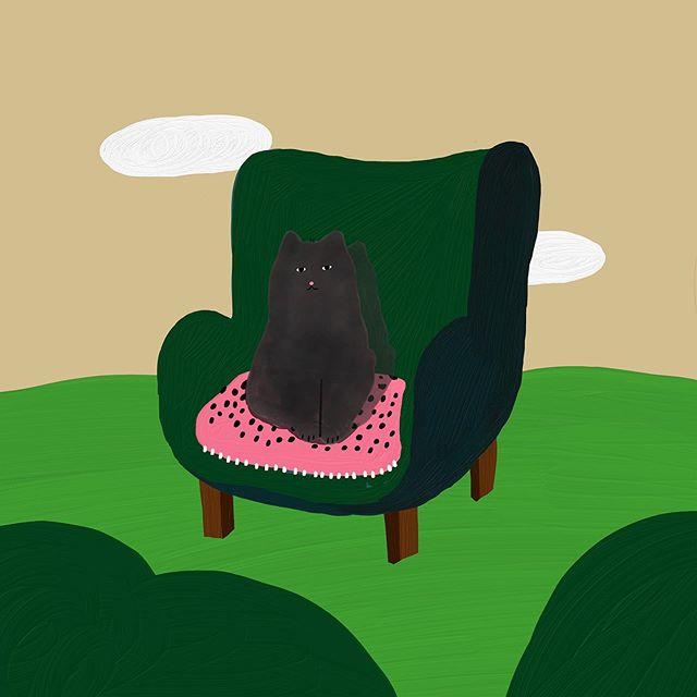 풀숲 야옹이 Good night…😵😵 – – – – – – – #illustration#illust#design#drowings#drow#drowingart#artwork#artist#designer#nature#벚꽃 #mydesign#일러스트#아티스트#드로잉#디자이너#소통#힐링#그림스타그램#야옹이그램
