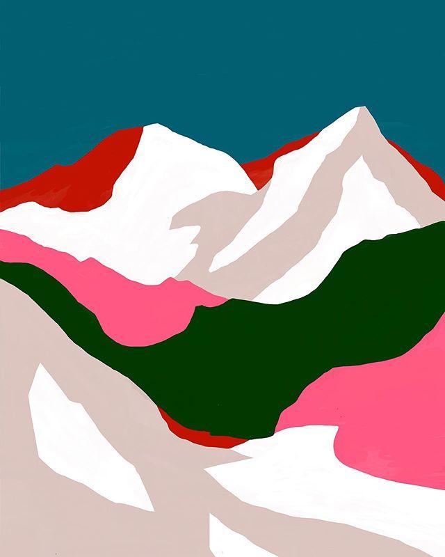 My design🙂 붉은 산 – – – – – – #illustration#illust#design#drowings#drow#drowingart#artwork#artist#designer#nature#instaart#일러스트#아티스트#드로잉#디자이너#소통#힐링#그림스타그램#mydesign#일러스트레이션