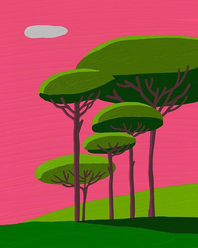 #A3#노을 – – – – – – #illustration#illust#design#drowings#drow#drowingart#artwork#artist#designer#nature#instaart#doodle_art#daily#일러스트#아티스트#드로잉#디자이너#소통#힐링#그림스타그램#mydesign#일러스트레이션